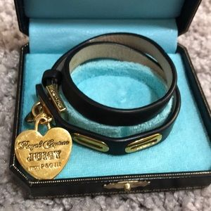 Juicy Couture leather wrap bracelet